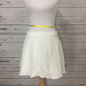 {NANETTE LEPORE} L'Amore White Lace Mini Skirt